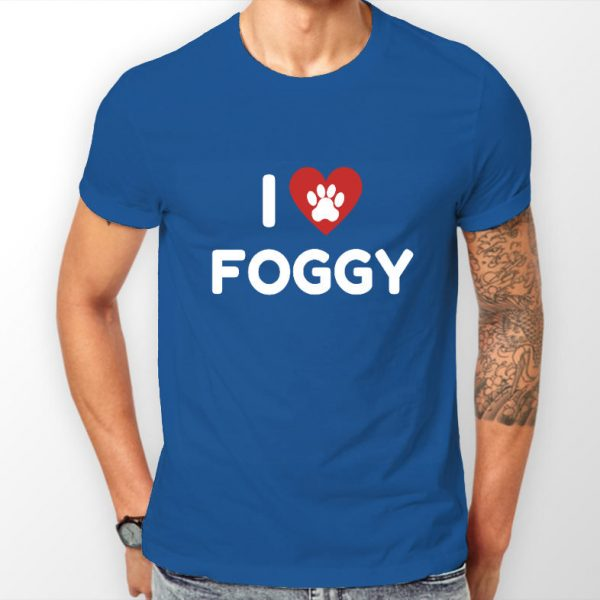Men's T-Shirt - 'I Love Foggy' Blue