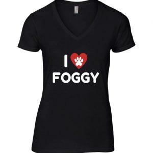 Women's T-Shirt - 'I Love Foggy' Black