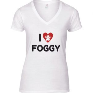 Women's T-Shirt - 'I Love Foggy' White