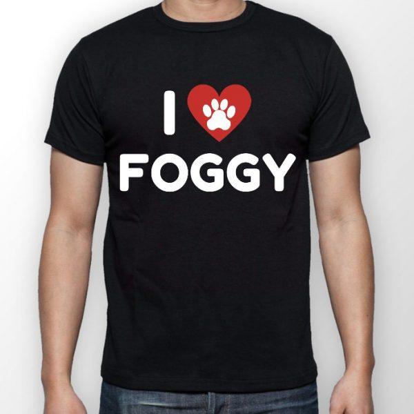 Men's T-Shirt - 'I Love Foggy' Black