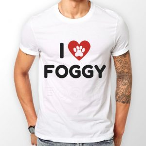 Men's T-Shirt - 'I Love Foggy' White