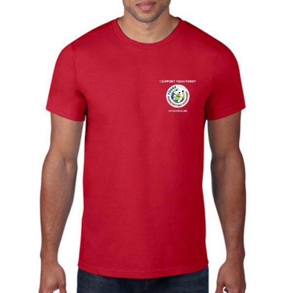 Men's T-Shirt - 'I Support Team Foggy' Red
