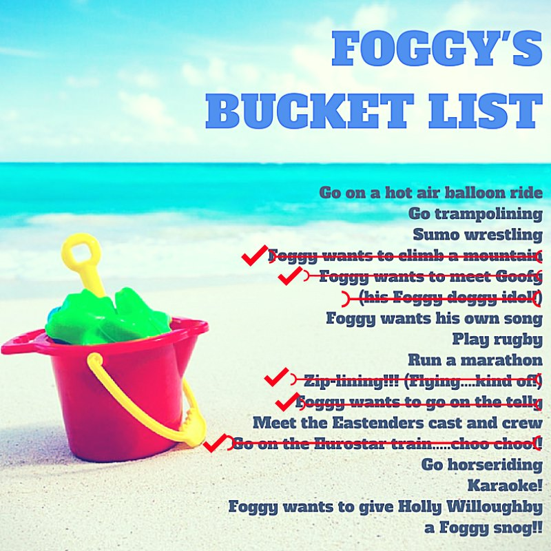 Foggy's Bucket List