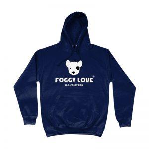 'Foggy Love' Hoodie - Navy