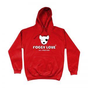 'Foggy Love' Hoodie - Red