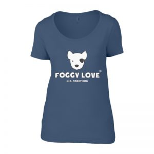 'Foggy Love' Ladies T-Shirt - Blue