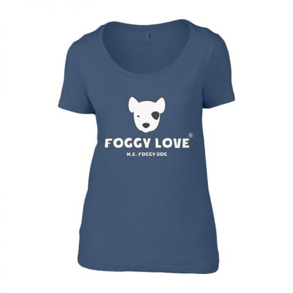 'Foggy Love' Ladies T-Shirt - Blue