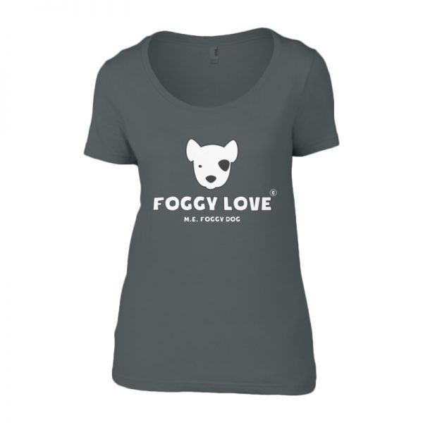 'Foggy Love' Ladies T-Shirt - Grey