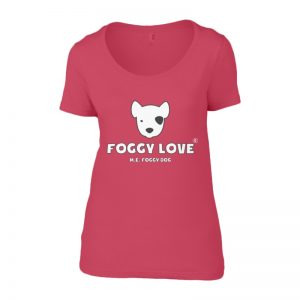 'Foggy Love' Ladies T-Shirt - Pink