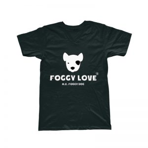 'Foggy Love' Basic T-Shirt - Black