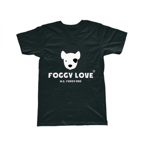 'Foggy Love' Basic T-Shirt - Black