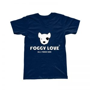 'Foggy Love' Basic T-Shirt - Navy