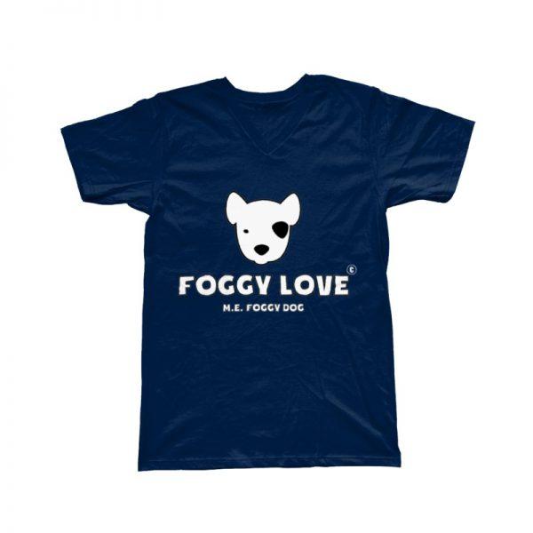 'Foggy Love' Basic T-Shirt - Navy