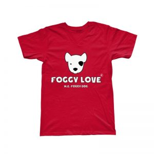 'Foggy Love' Basic T-Shirt - Red