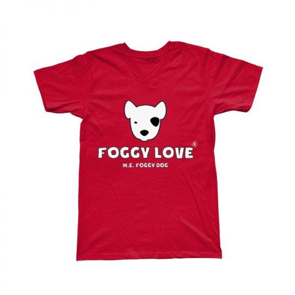 'Foggy Love' Basic T-Shirt - Red