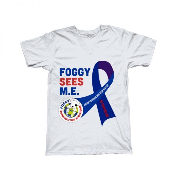 'Foggy Sees M.E.' V-Neck T-Shirt